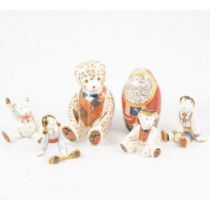 Six Royal Crown Derby paperweights,