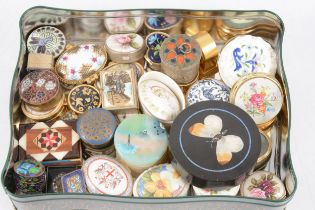 Small collection of pin and pill boxes,
