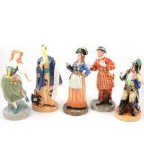 Five Royal Doulton Gilbert & Sullivan figures,