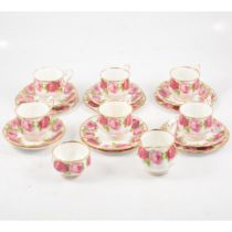 Royal Albert, Old English Rose bone china six place tea service