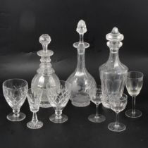 Waterford Sheila pattern decanter and stopper, and other table glass,