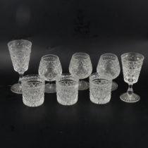 Part suite of Stuart table glass,