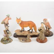 Leonardo resin model of the Leicestershire Fox, and other models,
