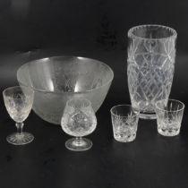 Quantity of Crystal, glasses etc