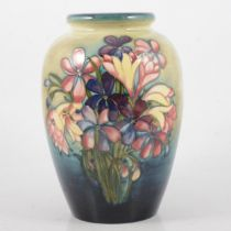 Moorcroft Pottery, Spring Flower pattern vase, circa 1950