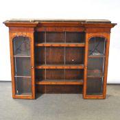 Oak and mahogany dresser top,