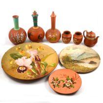 A collection of Devon terracotta ware