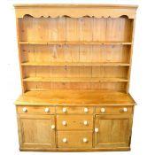 Victorian pine dresser,