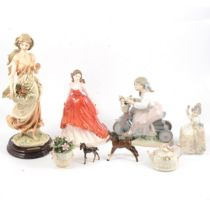 Guiseppe Armani Florence 'Fresh Fruit', Royal Doulton and LLadro figures and other decorative