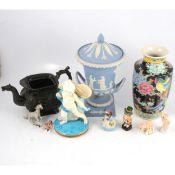 Wedgwood jasperware vase and other ceramics