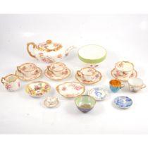 Quantity of decorative ceramics, including Stevenson & Hancock, and Wedgwood, Hammersley