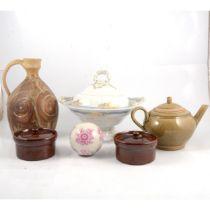 A collection of decorative ceramics and glassware