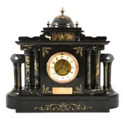 Victorian slate mantle clock,