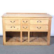 Victorian pine dresser base,