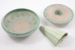 Pilkington's Royal Lancastrian, three items of Lapis ware