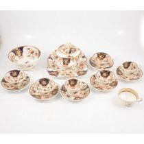Victorian Staffordshire part tea service, Imari pattern,