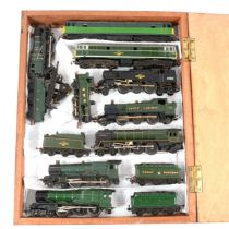 Nine TT gauge model railway locomotives & loose motor.