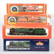 Four OO gauge model railway locomotives