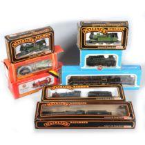 Eight OO gauge model railway locomotives