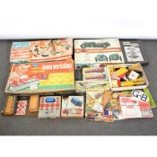 Vintage toys and games; including Airfix Bentley kit, Meccano and Lego