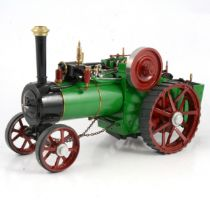 A ¾in scale model live steam traction engine, Burrell-type, 40cm
