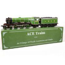 ACE trains O gauge model railway locomotive and tender, LNER 4-6-2, 'Diamond Jubilee'