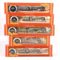 Five Hornby OO gauge model railway locomotives