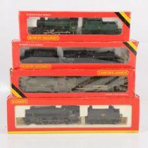 Four Hornby OO gauge model railway locomotives