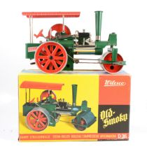 Wilesco, Germany D36 live steam roller 'Old Smoky', boxed.