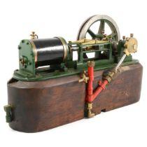 A well-engineered horizontal live-steam engine