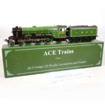 ACE trains O gauge model railway locomotive and tender, LNER 4-6-2, 'Papyrus'