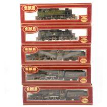 Five Airfix OO gauge model railway locomotives