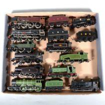 Eleven OO gauge model railway locomotives