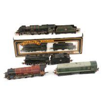Five OO gauge model railway locomotives