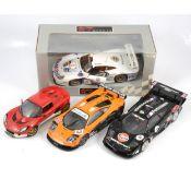 Four UT models and Jadi 1:18 scale model racing cars