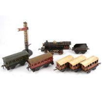 Kraus Fandor JK Co locomotive and coaches, Bing etc.