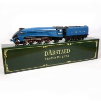 Darstaed Trains De Luxe O gauge model railway locomotive and tender, LNER 4-6-2, 'Kingfisher'