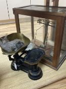 Victorian cast iron scales and scientific brass scales