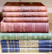 Books: Manchester Old and New, in three cloth and gilt volumes and five related books