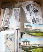 A collection of postcards, Brighton topographical and four further postcards, The Beatles