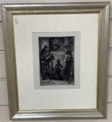 John Sloan (1871-1951, American), etching on wove paper, 'Bandits Cave 1920 (Morse 195)', signed