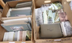 A retailer's stock of Brighton postcards