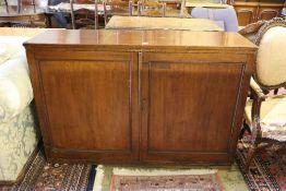 A 19th century mahogany press cupboard, width 138cm, depth 41cm, height 93cm