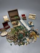 A collection of miscellaneous costume jewellery and other items