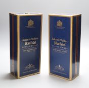 Two bottles of Johnnie Walker Blue Label whisky, 75cl.