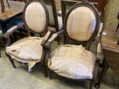 Two pairs of fauteuils