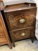 A George III mahogany tray top commode, width 46cm, depth 48cm, height 82cmCONDITION: The top is