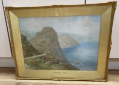 Lewis Mortimer (fl.1920-30), watercolour, 'Cake Rock, Lynton', signed, 36 x 49cm