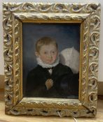 E. Bird (1772-1819) , oil on panel, Portrait of H. Richetts Jnr, inscribed verso, 15 x 11.5cm