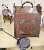 A quantity of miscellaneous metalware, including a coal scuttle, etc.
